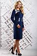 Модное женское платье 2332 синий (50-56), фото 2