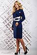 Модное женское платье 2332 синий (50-56), фото 3