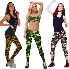 Женские спортивные легинсы, лосины, бриджи для фитнеса