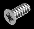 Еврошуруп 5,0х9белый цинк потайная голова крестообразный шлиц PZ