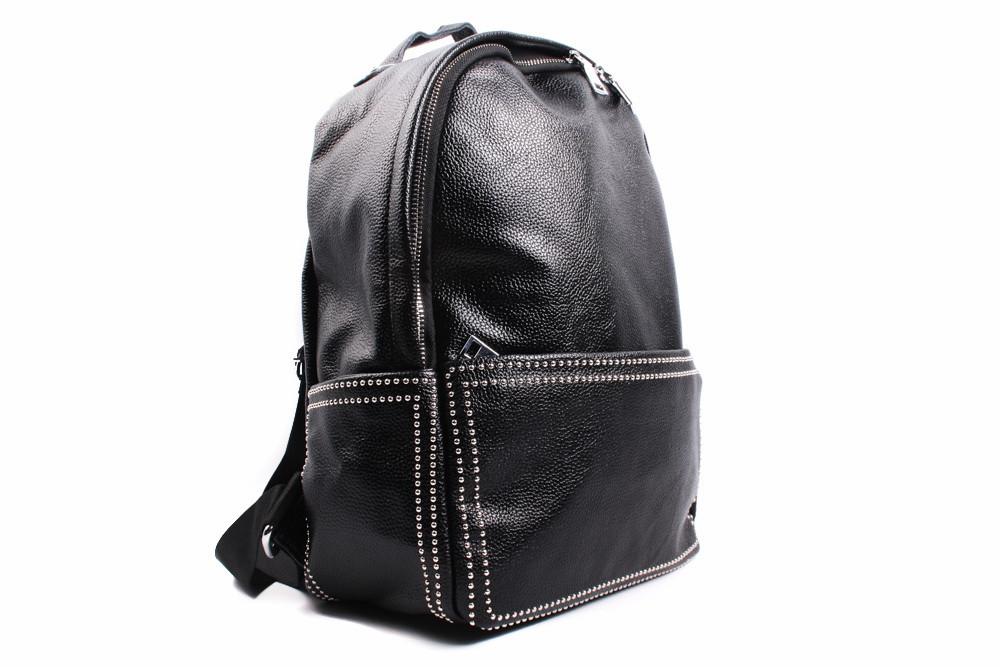 Рюкзак эко-кожа, цвет черный, размер большой, квадратная форма
