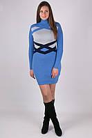Молодежный платье Катерина голубой - светло-серый