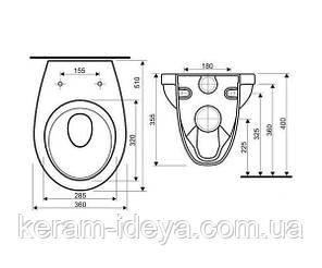 Комплект инсталляция Imprese с унитазом Kolo Idol M1310000U+i8120, фото 2