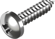 DIN7981 шуруп по металу (саморез) 2,9х13 белый цинк полукруглая голова крестообразный шлиц PH