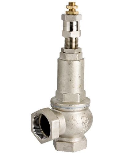 Клапаны предохранительные муфтовые латунные подпружиненные  Valtec (1-12 атм), Италия