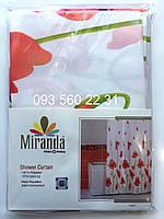 Шторка для ванной Миранда (POPPY) красный мак