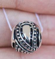БУСИНА-ПОДВЕСКА, ШАРМ ПАНДОРА » МАГИЧЕСКИЙ ШАР» серебряный