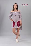 Летнее платье на пуговицах с апликацией Lato