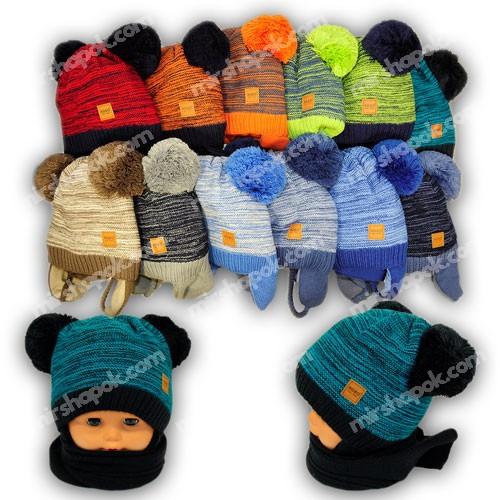 Вязаная шапка и шарф для мальчика