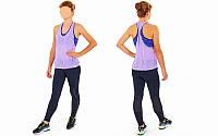 Майка-топ для фитнеса и йоги CO-1528-2 (лайкра, р-р M-L-40-48, фиолетовый)