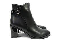 Женские ботиночки на толстом каблуке короткие, фото 1