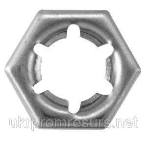 DIN 7967 Гайка самоконтрящаяся М10 стопорная пружинная из нержавеющей стали