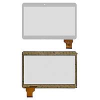 """Сенсорный экран (touchscreen) для Assistant AP-115G IP, 10.1"""", 162-240 мм, 50 pin, емкостный, белый, оригинал"""