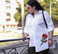 Рубашка асимметричная для пышных женщин, с 48-74 размер, фото 1
