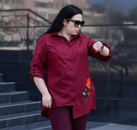 Рубашка асимметричная для крупных женщин, с 48-74 размер, фото 1