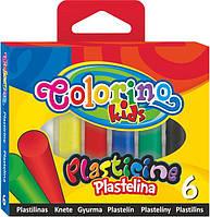 Пластилин Стандартные цвета 6 цветов, 100 гр Colorino (13871PTR)