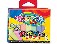 Пластилин Светящийся в темноте 6 цветов 100 гр Colorino (42680PTR)