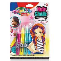 "Набор для девочки: Краски для волос ""металлик"", ТМ ""Colorino"", 5 цв."