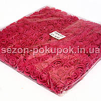 ОПТ роза латекс 2см (цена за пачку 144 шт) цвет-Темно коралловый