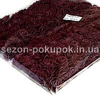 ОПТ роза латекс 2см (цена за пачку 144 шт).Цвет-Бургунди