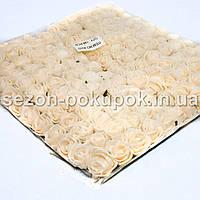 ОПТ роза латекс 2см (цена за пачку 144 шт) Цвет-Кремовый