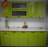 Современная Кухня Гамма глянцевая оливковая
