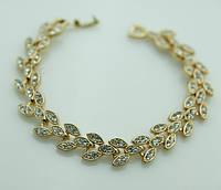 Женские браслеты из белых камней. Ювелирная бижутерия 1093