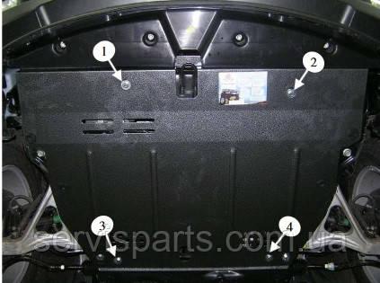 Защита двигателя Hyundai Grandeur 2005- (Хундай Грандер)