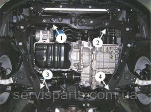 Защита двигателя Hyundai Grandeur 2005- (Хундай Грандер), фото 2