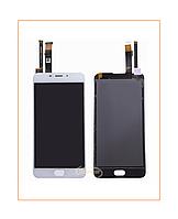 Дисплей Meizu M3e с сенсором (тачскрином) White Original