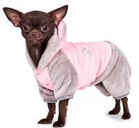 Костюм для собаки Альф XS-2, Длина спины 26-28см, грудь 32-39 см (розовый с серым и мятный с черным)