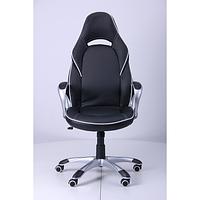 Кресло Страйк (CX 0496H Y10-02) Черный/кант Белый (AMF-ТМ)