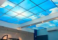 Прозрачный стеклянный потолок
