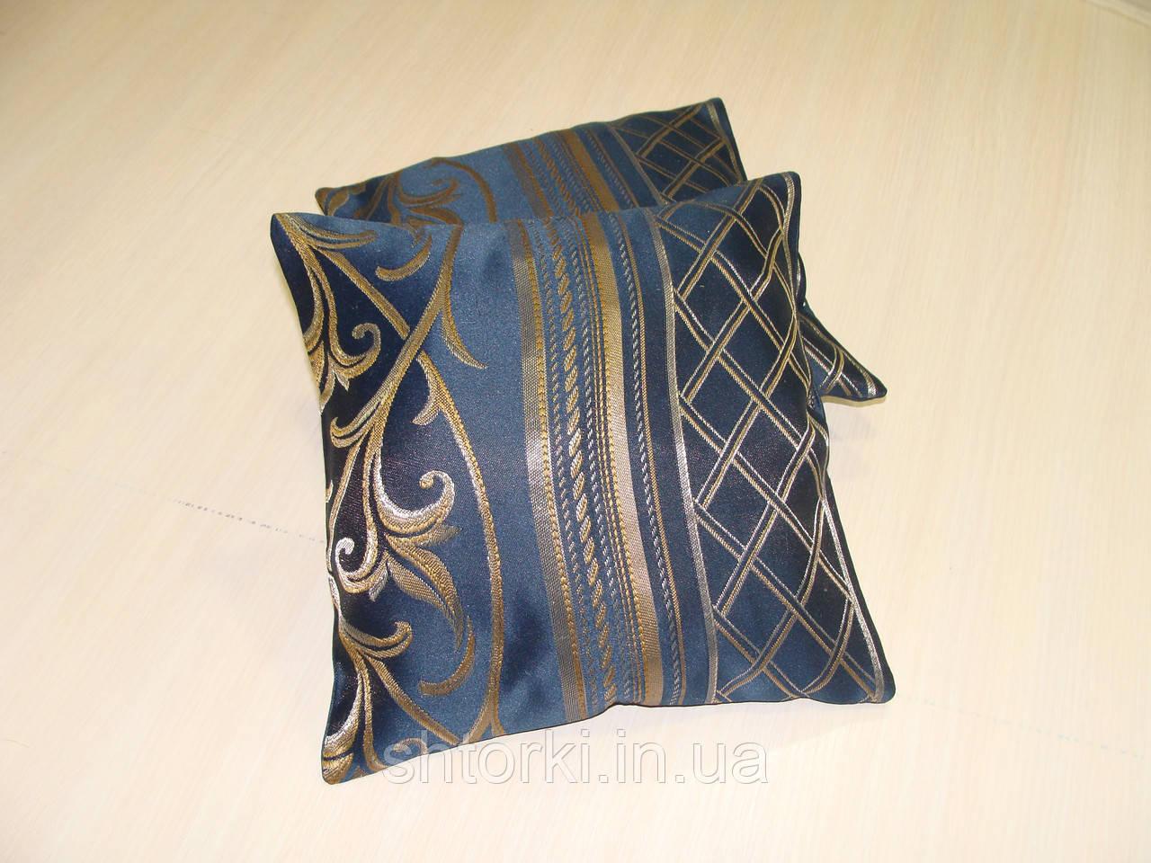 Комплект подушек  Комби синие , 2 шт 25х25