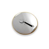 Аксессуар к грилям GrandHall камень для пиццы (Ø33 см) со стальным подносом (Ø31 см) и ножом для пиццы