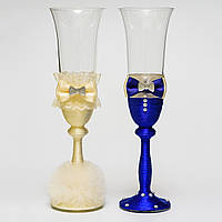 """Свадебные бокалы """"Жених и невеста"""" (арт.WG-207)"""