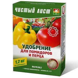Добриво Чистий лист (кристалічний) 300 г (для помідорів та перцю) 1424.014 Kvitofor