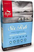 Orijen Six Fish Cat кг 5,4кг - беззерновой корм для всех пород котов и котят с рыбой