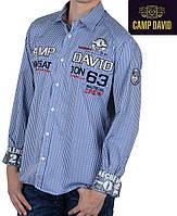 Мужская рубашка в синюю клетку Camp David ( Кэмп Дэвид )