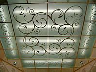 Стеклянный потолок с рисунком
