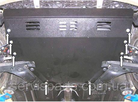 Защита двигателя Hyundai I-10 2008- (Хундай) - Магазин ServisParts в Николаеве