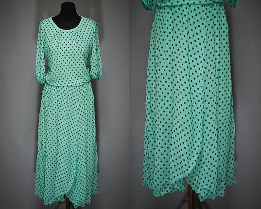 """Женское платье в горошек """"Легкий воздушный шифон на подкладке"""" 50 размер батал, фото 2"""