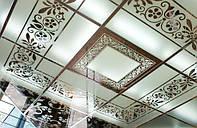 Зеркальный потолок с рисунком (выбивание амальгамы)