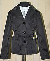 Пиджак, жакет-курточка для девочки синий и черный.