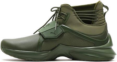 Женские кроссовки Puma Fenty X Puma Trainer Hi Cypress Green 190398 02, Пума Фенти Треинер, фото 2
