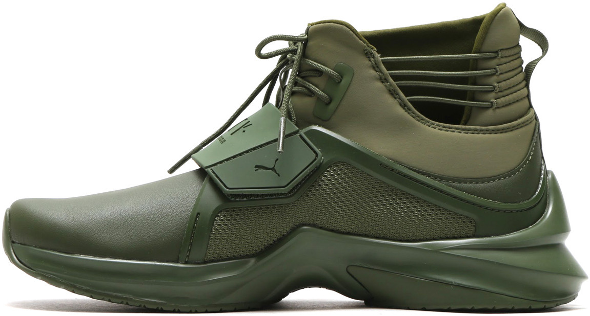 Женские кроссовки Puma Fenty X Puma Trainer Hi Cypress Green 190398 02, Пума Фенти Треинер