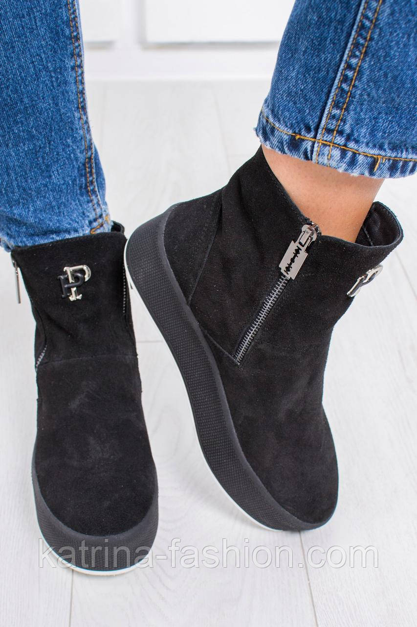 67108998 Женские очень красивые зимние замшевые ботинки с натуральным мехом -  KATRINA FASHION - оптовый интернет-