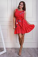 Женское платье с принтом бабочек