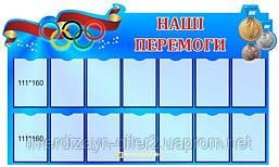 """Стенд спортивный """"Наши победы"""""""