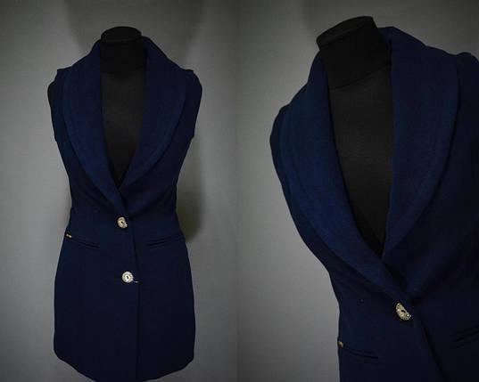 Удобная женская жилетка из кашемира 44 размер норма, фото 2